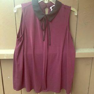 Plum collared blouse